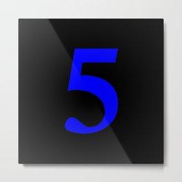 5 (BLUE & BLACK NUMBERS) Metal Print