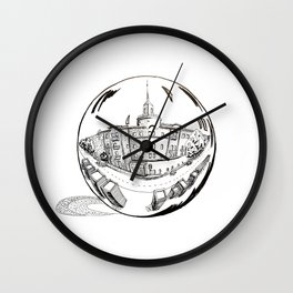 City in a Glass Ball Wall Clock