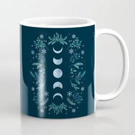 Moonlight Garden - Teal Snow Coffee Mug