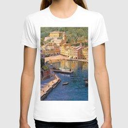 Ligurian Sea, Portofino Italy by Kristian Zahrtmann T-shirt