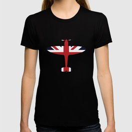 Union Jack Faded Flag Queen T-shirt