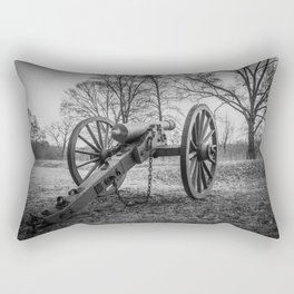 Spotsylvania Virginia Historic Artillery Black and White Fine Art Photography Civil War Rectangular Pillow