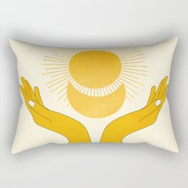 Holding the Light Rectangular Pillow