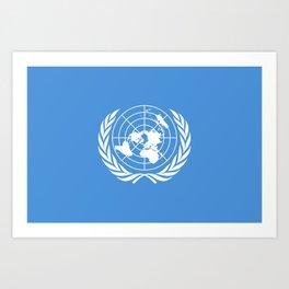 United Nations Flag Art Print