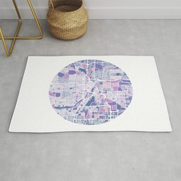 Minneapolis Minnesota Colorful Map Rug