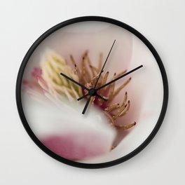 Macro Of A Tulip Tree Blossom Wall Clock