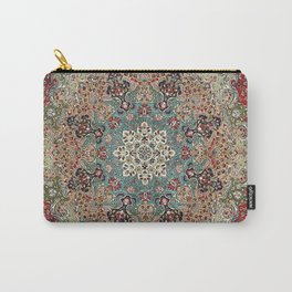 Antique Red Blue Black Persian Carpet Print Carry-All Pouch