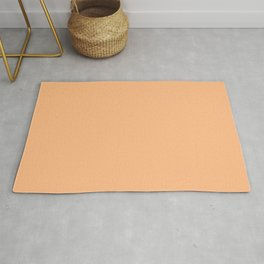 From The Crayon Box – Macaroni and Cheese Pastel Orange Solid Color Rug