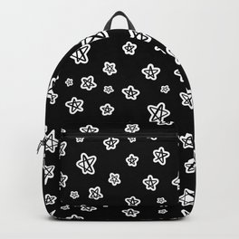 FUN CUTE STARS // Outer Space Galaxy Theme  (Black and White) Doodle Hand Drawn Backpack