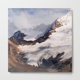 Breathtaking Alaskan-Canadian Glacier Metal Print
