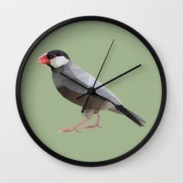 Java Sparrow polygon art Wall Clock