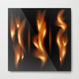 Tongues of flame Metal Print