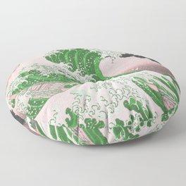The Great Wave Off Kanagawa Mount Fuji Eruption Floor Pillow
