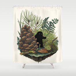Tiny Sasquatch Shower Curtain