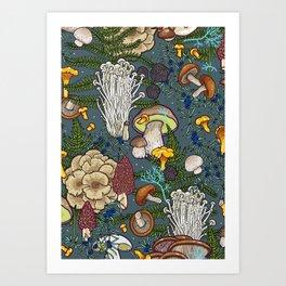 mushroom forest Kunstdrucke