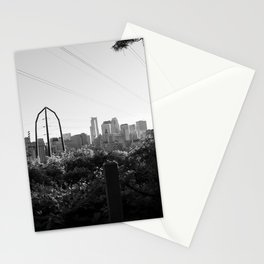 Minneapolis, Minnesota Black and White Skyline | City Photography Stationery Cards