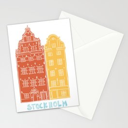 Stockholm old town - Gamla Stan facades Stationery Cards