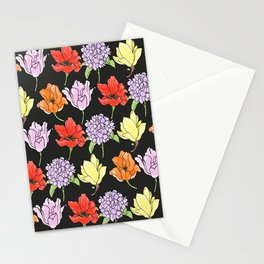 dark crowded floral Stationery Cards
