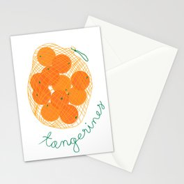 Tangerines Illustration Stationery Cards