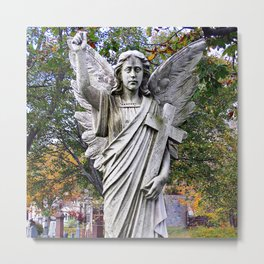 Angel with a Cross Metal Print