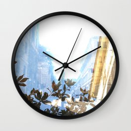 Ghost streets in Rome Wall Clock