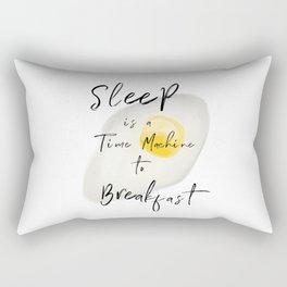 Breakfast — poster, art print, pictures, scandinavian, deco, sarcasm, egg, food, kitchen, wisdom fun Rectangular Pillow