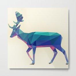 Geometric fallow deer Metal Print