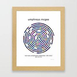 Umphrey's McGee Red Rocks 2012 Spiral Art Framed Art Print