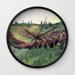 Roman Legion in Battle Wall Clock