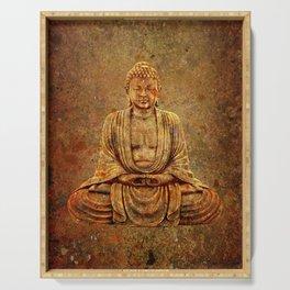 Sand Stone Sitting Buddha Serving Tray