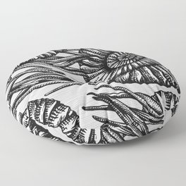 AMMONITE COLLECTION B&W Floor Pillow