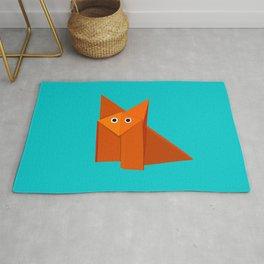 Cute Origami Fox Rug