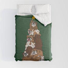 Christmas Tree English Bulldog Comforters