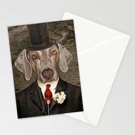 Weimaraner -Monsieur Rigg Stationery Cards