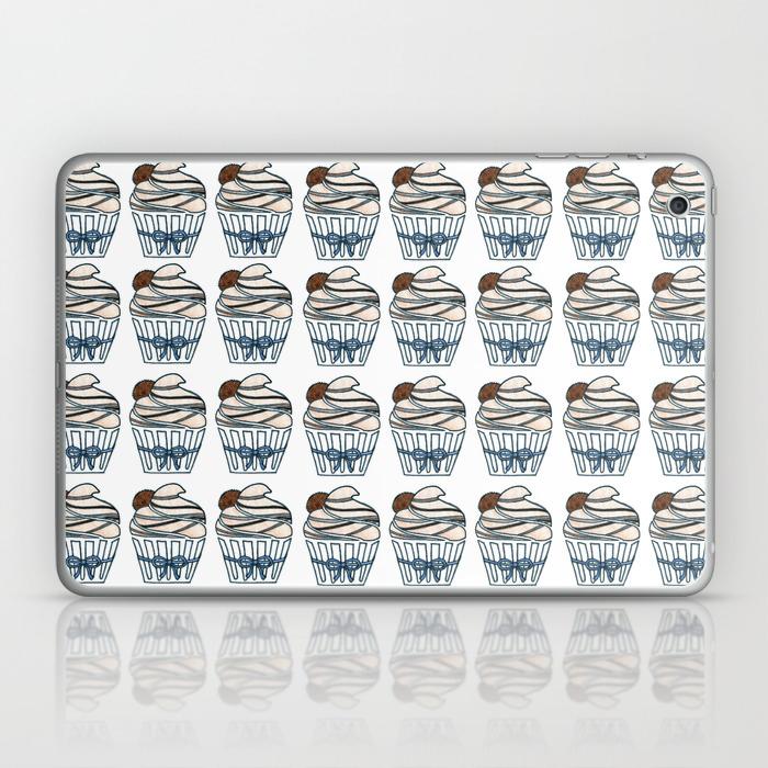 Peanut Butter Cup Cupcake Laptop & Ipad Skin by Designthebranch LSK7823996