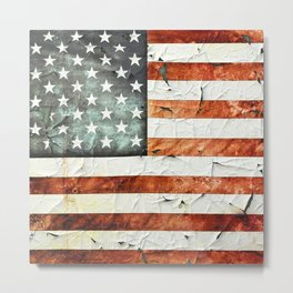 Painted Stars And Stripes Metal Print