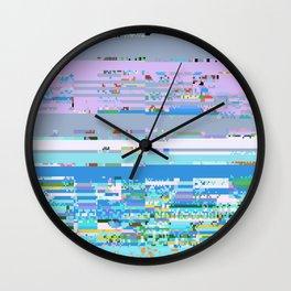 03290 (glitch art) Wall Clock