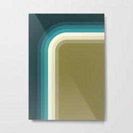 Graphic 876 // Cool & Drab Bend Metal Print