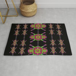 paradise flowers in a decorative jungle Rug