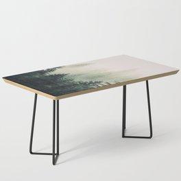 Foggy Pine Trees Coffee Table