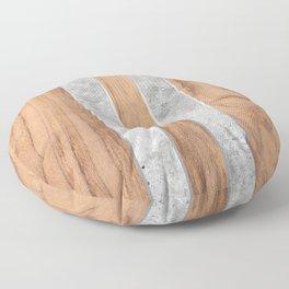 Striped Wood Grain Design - Concrete #347 Floor Pillow