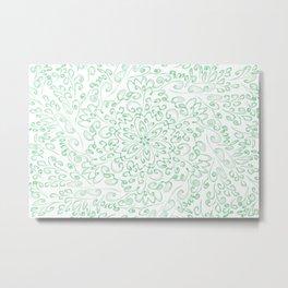 Green fractal flower Metal Print