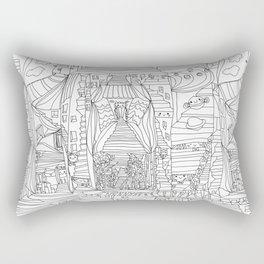 doodle cartoon village Rectangular Pillow