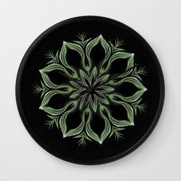 Alien Mandala Swirl Wall Clock