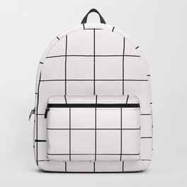 Pearly Light Pink Grid Texture Backpack