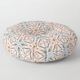 Coral Decoraive Tile Floor Pillow