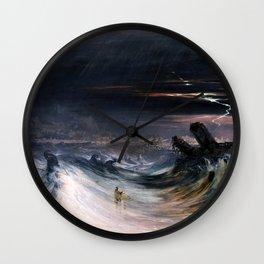 Destruction of Tyre by John Martin (1840) Wall Clock