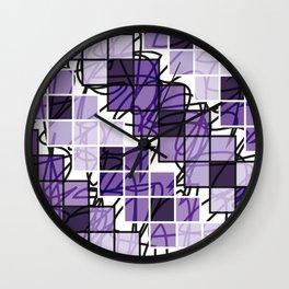 Purple | Squares Wall Clock