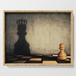pawn glorification Serving Tray