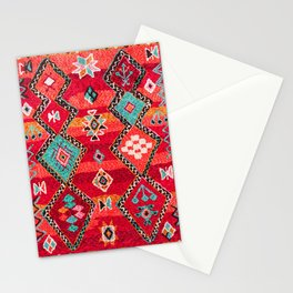 Epic Red Oriental Anthropologie Berber Atlas Moroccan Style Stationery Cards